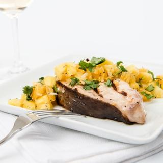Grilled Marinated Swordfish with Orange Pineapple Salsa image