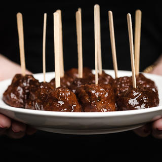 Slow Cooker Turkey Meatballs with Marionberry Barbecue Sauce image