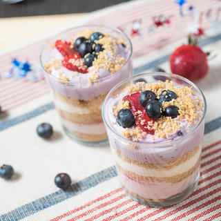 Related recipe - No Bake Cheesecake Red, White and Blue Dessert