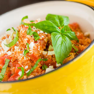 Party Crock Couscous with Tomatoes and Feta image