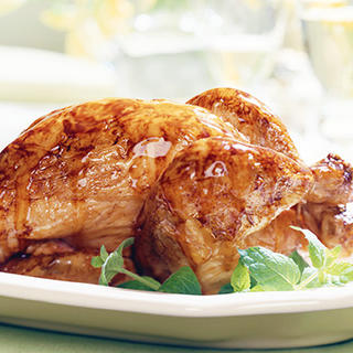Roast Chicken with Honey Mustard Glaze image