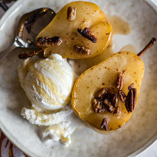 Roaster Oven Pears with Pecans image