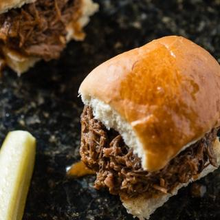 Slow Cooker Shredded Beef Sloppy Joes image