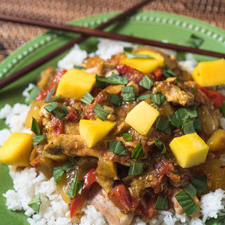 Slow Cooker Mango Chicken with Coconut Rice image