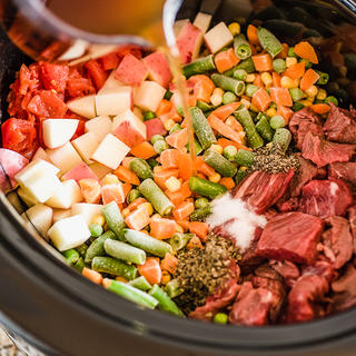 Slow Cooker Beef and Vegetable Soup image