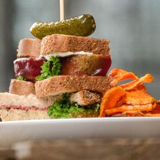 Turkey Vegetable Cranberry Meatloaf Sandwich image