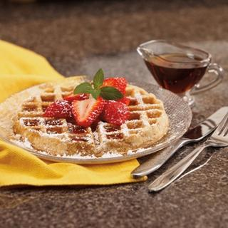 Whole Grain Waffles with Dipping Sauces image